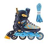 SPOKEY verstellbare INLINESKATES Skates Inlineskate Inliner Skates für Kinder Erwachsenen Kinderinliner TURIS (blau, 40-43)