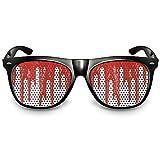 """COOLEARTIKEL Halloween/Fasching Spaßbrille mit Motiv """"Bloodrain"""", Partybrille / Fun-Brille als lustiges Accessoire für dein Horror Kostüm, im Nerd oder Piloten Stil (Nerdbrille schwarz)"""