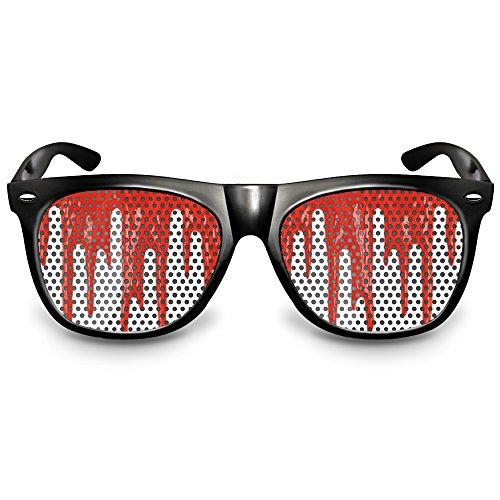 """COOLEARTIKEL Halloween/Fasching Spaßbrille mit Motiv """"Bloodrain"""", Partybrille / Fun-Brille als..."""