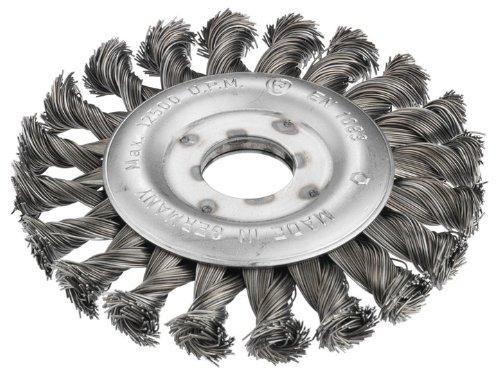 Connex COM233115 Rundbürste gezopft, 115 mm, Bohrung 22 mm, Stahldraht für Winkelschleifer Test