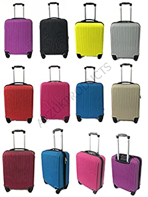 Super Lightweight Cabin Approved Hard Shell ABS Luggage Travel Wheelie Bag suitcase Trolley Cabin Approved Case 50x40x20 Easyjet Ryanair