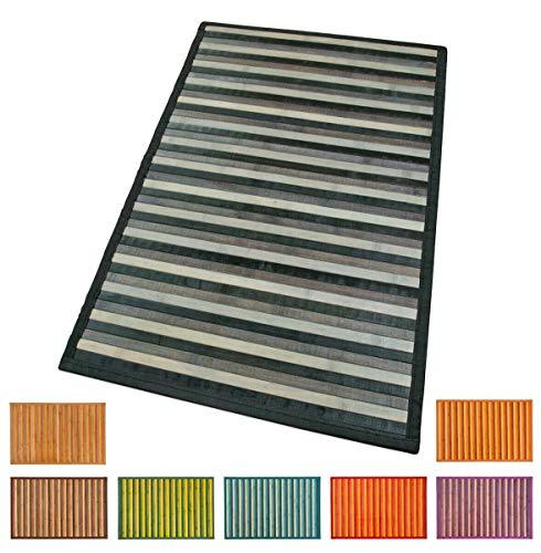 EMMEVI Bambus-Teppich/Badezimmerteppich, Badezimmer/Badezimmer/Badezimmer/Badezimmer/Badezimmer/Badezimmer/Badezimmer/Frühstücksbrettchen, Rückseite aus Antirutsch-Kunststoff, Bambus. 50x135 cm rot