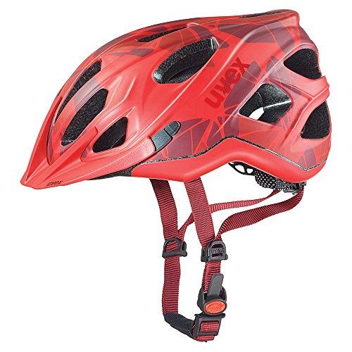 Uvex Adige CC - Casco de Ciclismo, Color Rojo Mate