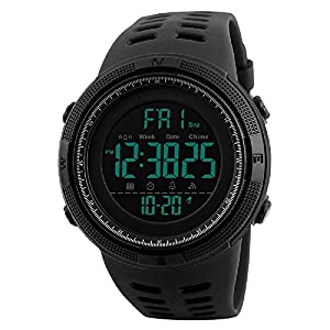 Skmei Digital Black Dial Men's Watch - Skm-1251-Black-01