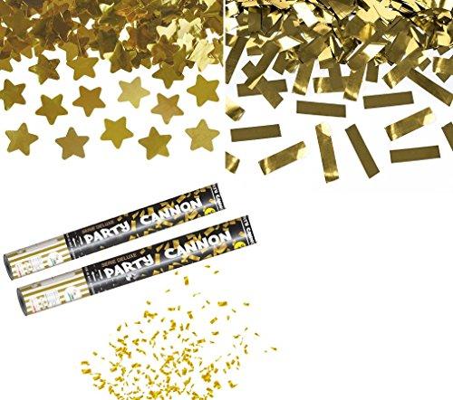 takestop-SET-2-TUBI-TUBO-SPARACORIANDOLI-stelle-oro-glitter-GOLD-CANNONE-40CM-FESTA-PARTY-PROMESSA-MATRIMONIO-NOZZE-SPARA-CORIANDOLI