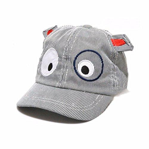 FALAIDUO Kids Boys Girls Cute Cartoon Dog Beret Hat Sun Hat Baseball Cap for 1-3 Years (Z_Black)