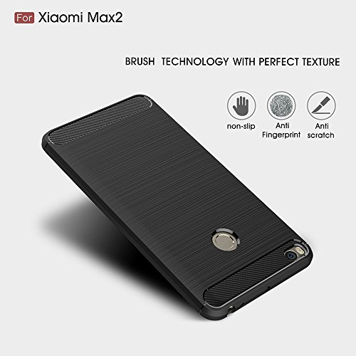 EKINHUI Case Cover Dünn und leichtgewichtig gebürstet Carbon Fiber robuste Rüstung Back Cover Stoßstange Fall Shockproof Drop Resistance Shell Abdeckung für Xiaomi Max 2 ( Color : Blue ) Red