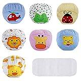 Lictin Culottes d'apprentissage Bébé, Culotte Bébé Fille/Garçon en 100% Coton pour Les Bébé 2 à 3 Ans - Lot de 7(Taille de 100cm