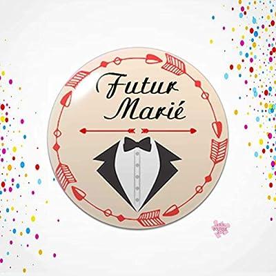 Badge Marié et Team du marié | EVG | Témoin | Garçon d'honneur | Mariage | Noce | Enterrement vie de garçon | Futur marié
