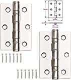 """Ball Bearing Hinges 1 Pair of 3"""" (75mm) Butt Hinges"""