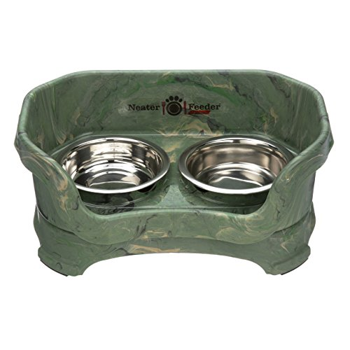 NEATER PET BRANDS Feeder-Deluxe Katze camo grün 2 Tier Portion Stand