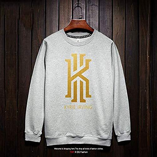 Ldwxxx NBA Langarm Hemd Boston Celtics Kyrie Irving New Jersey Fashion Basketball Sweatshirt (Color : White2, Size : S) -