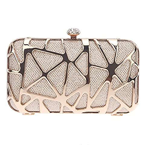 Bonjanvye Special Water Cube Box Evening Clutches Purses for Girls Champagne