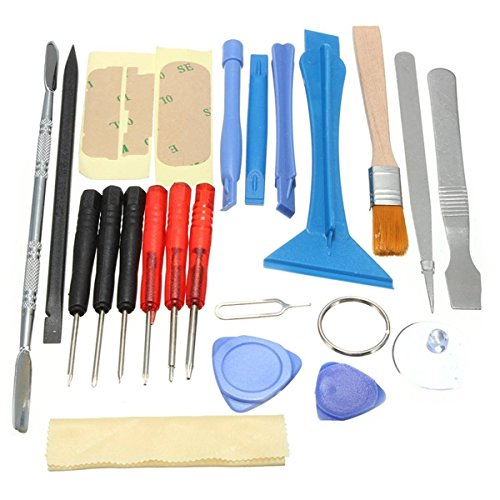 Price comparison product image ELEGIANT 22 in 1 Open Pry Repair Screwdrivers Set Sucker Tools Kit For iPhone Samsung Nokia and all mobile phone