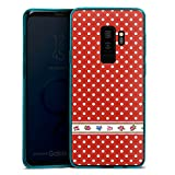 DeinDesign Samsung Galaxy S9 Plus Slim Case transparent hellblau Silikon Hülle Schutzhülle Dots Tapete Wallpaper
