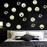ODN Luminous Cartoon-Smiley Wandtattoo Aufkleber fur Nursery Kinderzimmer Schlafzimmer Wohnzimmer Dekoration