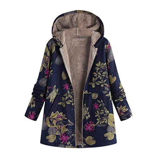 daliyugushangmaoyouxian zerengongsi Damen Mantel Winter Warm Jakets Outwear Blumendruck Mit Kapuze Taschen Übergröße Mäntel Oberbekleidung Manteau Femme -