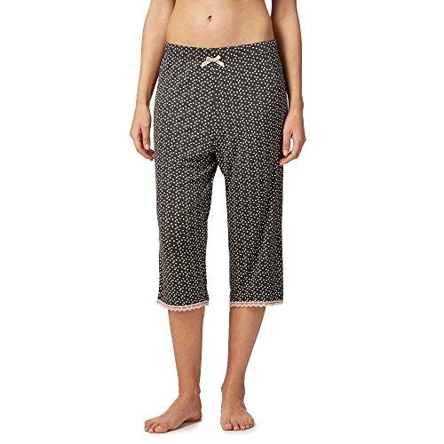 Lounge & Sleep Womens Grey Polka Dot Print Cropped Pyjama Bottoms Test