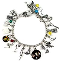 Armband Harry Potter unter dem Motto inspiriert Rowling Hogwarts Glas Star Flash Owl Mond Charming Armbänder