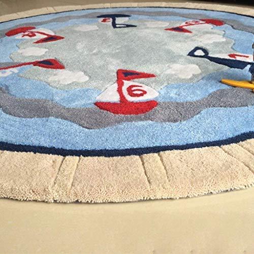 Guoey mediterraneo europeo barca a vela round tappeti pattern di personalità soggiorno al posto letto sedia computer kids moquette in camera