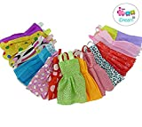 #4: iDream Beautiful Handmade Party Dress Fashion Clothes For Barbie Doll,Multi Color (12 Pieces)