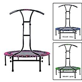 Indoor-Outdoor-Mini-Fitness-Trampolin-110-cm--mit-6-Standbeinen-und-Haltegriff-hhenverstellbar-stabile-Ausfhrung-bis-120-kg-belastbar