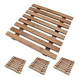 4 x Topfuntersetzer-Gitter / Stövchen aus Bambus 17,5 x 17,5 cm