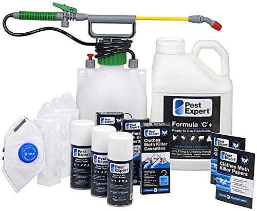 Kit pour traitement des mites de vêtements pour 3-4 pièces (avancé) de Pest Expert. Produits de qualité professionnelle.