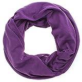 Schlauchschal Uni Damen Frühling/Sommer Damen Tuch Halstuch lila