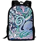 best& Octopus School Backpack Bookbag for College Travel Hiking Fit Laptop Water Resistant