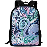 best& Octopus School Backpack Bookbag For College Travel Hiking Fit Laptop Water Resistant
