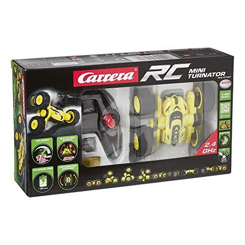 Carrera- RC Coche Miniatura 2,4GHz Mini Turnator 360/Stunt, Color Amarillo y Negro (370402001)