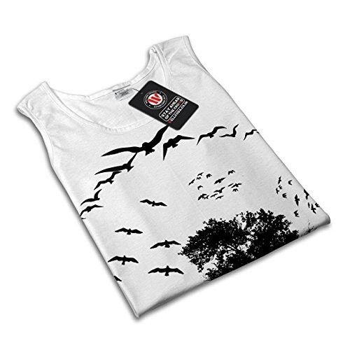 Vogel Freiheit Fliege Natur Freiheit Damen S-2XL Muskelshirt   Wellcoda Weiß
