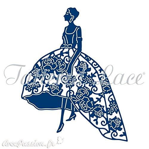 Tattered Lace Duchess Lady in Floral Kleid, Metall schneiden sterben D1040 (Kleid Metall Lady)