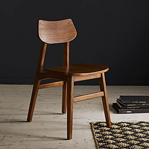 Chaise en bois finition Noyer MILO