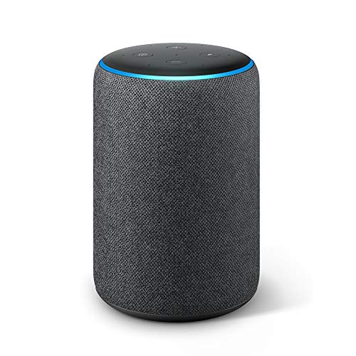 All-new Echo Plus (2nd Gen) – Premium sound with a built-in smart home hub - Charcoal fabric
