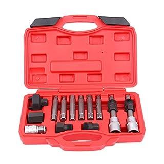 ambienceo 13PCS Lichtmaschine Freilauf Riemenscheibe entfernen Stecknuss-Set Garage Service Tool Kit