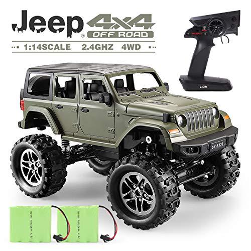 GILOBABY Kamera RC Autos Elektrisches Ferngesteuertes Spielzeugs, Remote Control Autos mit Live Übertragung 4WD 2Motor 2.4G FPV WiFi (App) Kamera 2 Sätze Reifen, RC Auto für Kinder Erwachsener (Auto)