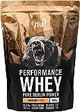 nu3 - Whey Protéines Performance / 1kg / Noisette/Proteine destinée à la prise de masse musculaire/Excellente solubilité et délicieuse saveur noisette/Haute teneur en proteines