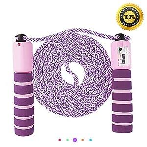 Nasharia Springseil, Springseile Speed Rope mit Zähler Und Komfortablen &...