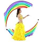 Dance Fairy Seidenschal Poi Geworfen Bälle für Berufsbauchtanz Props (Regenbogen Farben)
