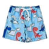 Funnycokid Jungs Badeshorts mit Badeanzug Sommer Cooles Schnelltrocknend über dem Knie mit Meshlining-Kordelzug und Taschen