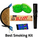 #10: OutonTrip - 4 Inches Clay Chillum,1 crusher, 1 mixing bowl,1 roach book, 1 RAW Rolling ((rolling paper combo/rolling paper set/ocb combo/smoking papers combo)