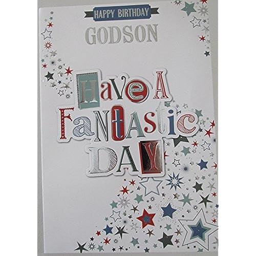 Godson birthday card amazon godson birthday card have a fantastic day stars bookmarktalkfo Images