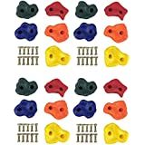 HIKS® Climbing Stones Holds & Grips Multi-coloured, Ideal For Climbing Frames , Tree Houses And Kids Climbing Walls in Packs of 5, 10,15,20 & 40