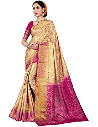 Nirja Creation Women's Cotton Silk Banarasi Saree(KAMAL)