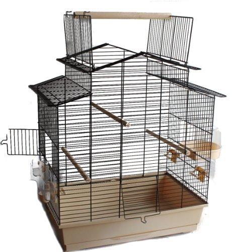 Heimtiercenter Vogelkäfig Vogelbauer Käfig IZA 3 Cabrio beige schwarz grün blau weiß