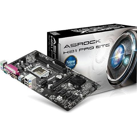 Asrock H81 Pro BTC - Placa base (DIMM, DDR3-SDRAM, Dual, Intel, PC, Intel)