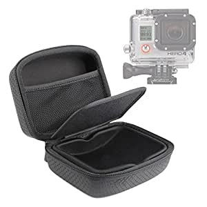 DURAGADGET Etui coque rigide noir de protection pour GoPro HERO5, Hero 5 Session, Hero 4, HERO+ LCD, Hero4 Session (Black & Silver CHDSS-101-EU) Session caméscopes / caméra embarquée tous modèles (Black & Silver, Surf)