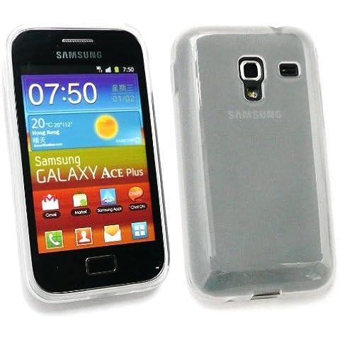 Emartbuy Value Pack Per Samsung S7500 Galaxy Ace Plus Lcd Screen Protector + Modello Gel Frosted Cover / Case Trasparente + Compatibile Micro Usb Caricabatteria Da Auto